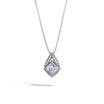 Womens necklaces silver necklaces pendants designer jewelry modern chain magic cut pendant necklace silver gems dia aloadofball Images