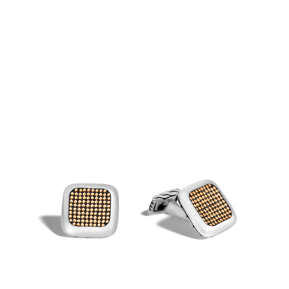 Chain Jawan Cufflinks in Silver and 18K Gold