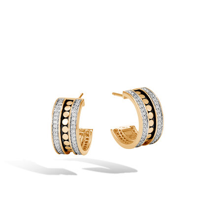 Dot Small Hoop Earring in 18K Gold