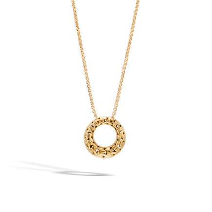 Classic Chain Pendant Necklace in 18K Gold
