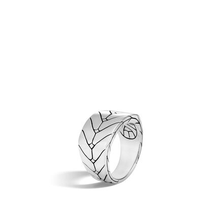 Modern Chain 13.5MM Band Ring in Silver