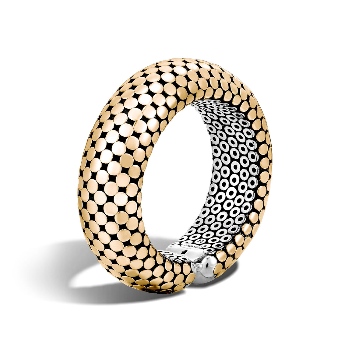 Dot 22MM Cuff in Silver and 18K Gold