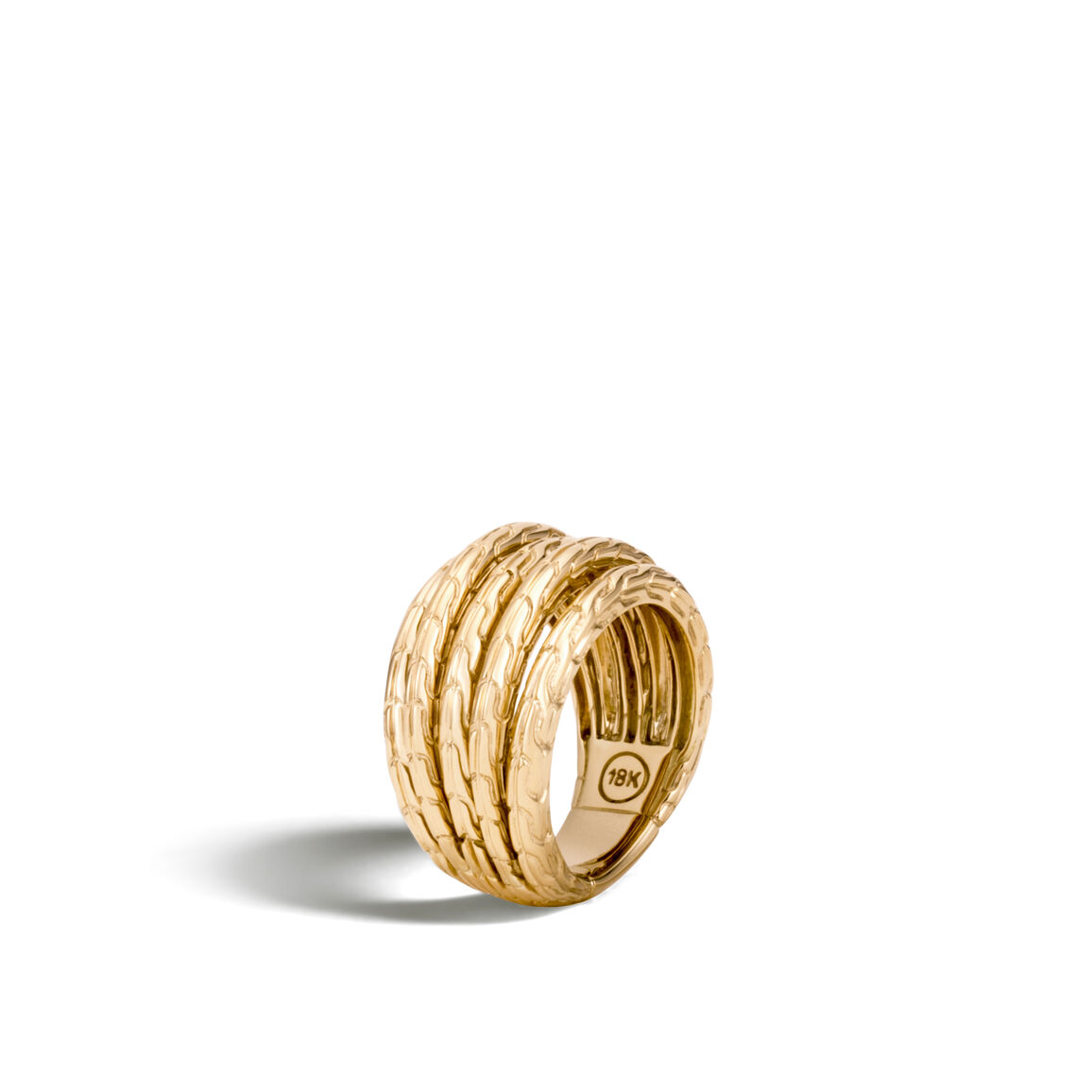 Classic Chain Ring in 18K Gold
