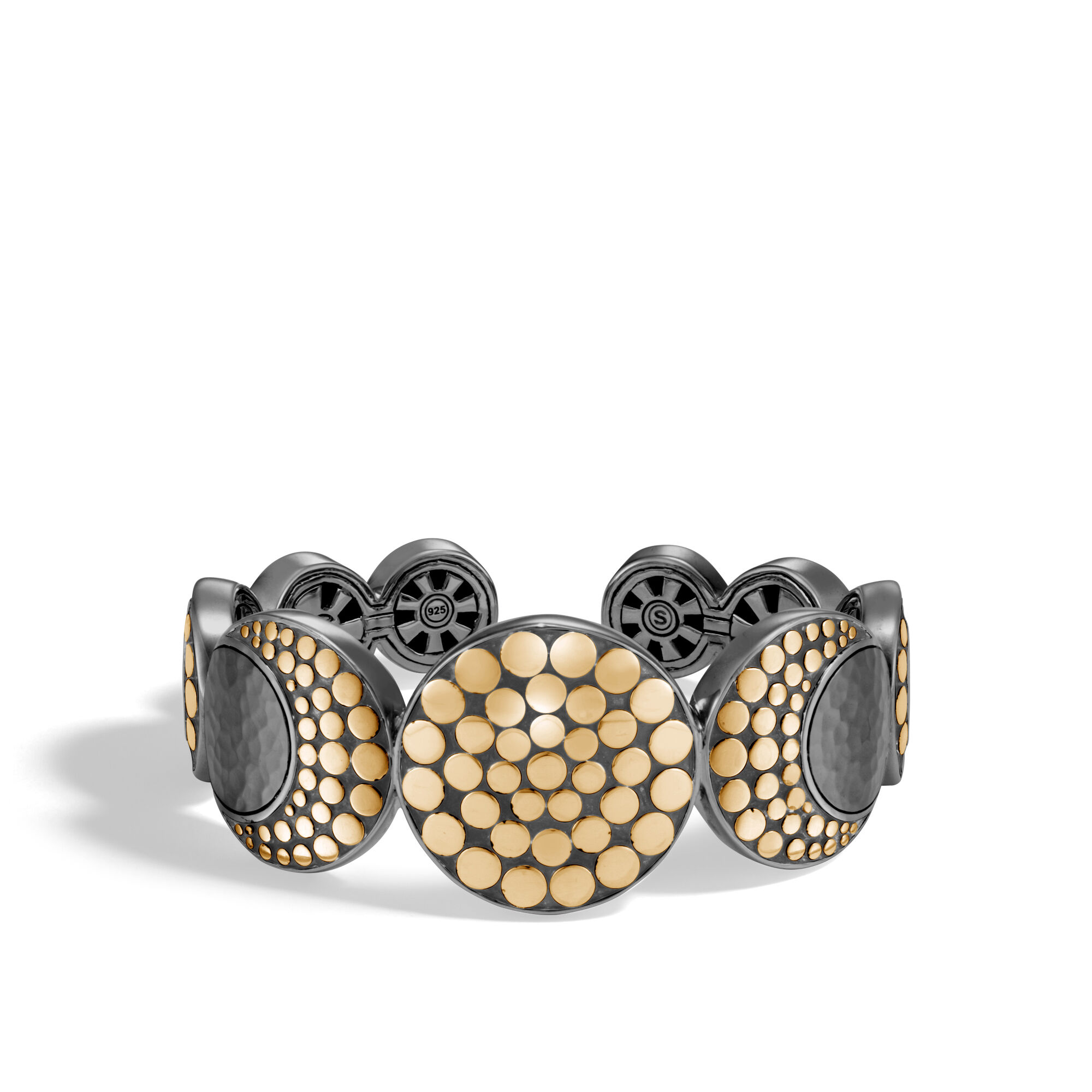 John Hardy Moon Phase Hammered Cuff Xs