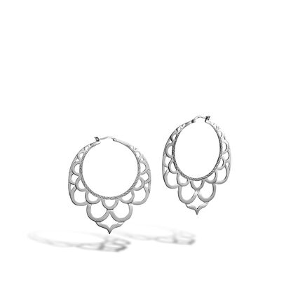 Legends Naga Hoop Earring in Silver