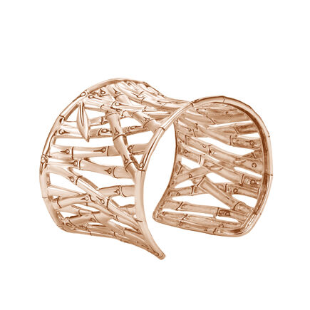 Bamboo 48MM Cuff in 18K Rose Gold