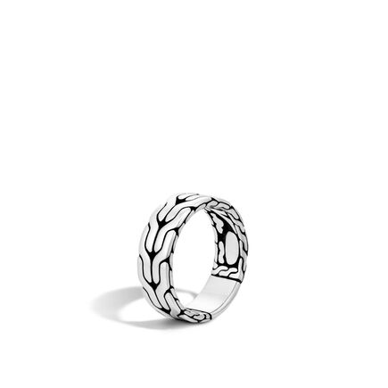 Classic Chain 8MM Band Ring in Silver