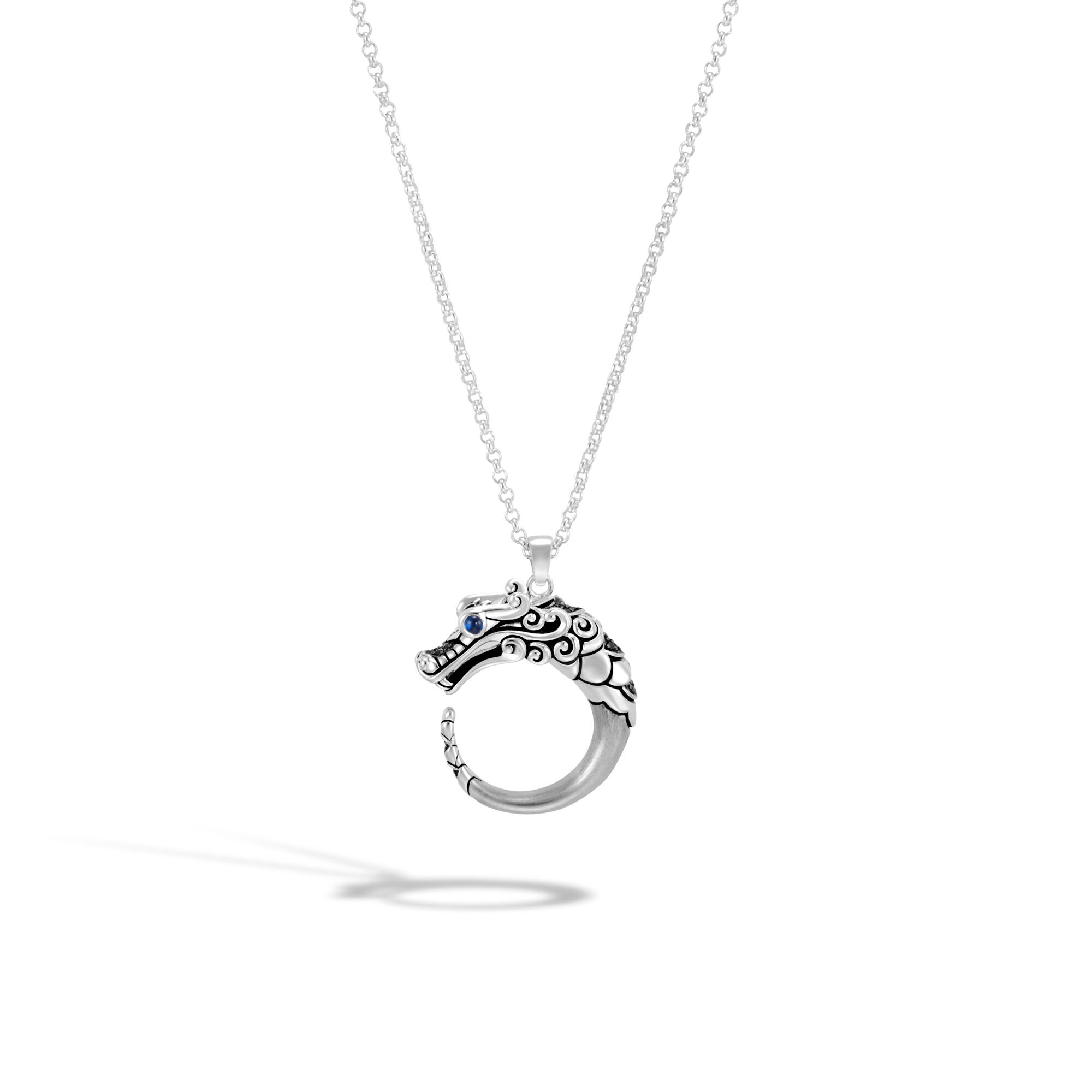 John Hardy Pendant Necklace With Black Spinel tmPDdAy