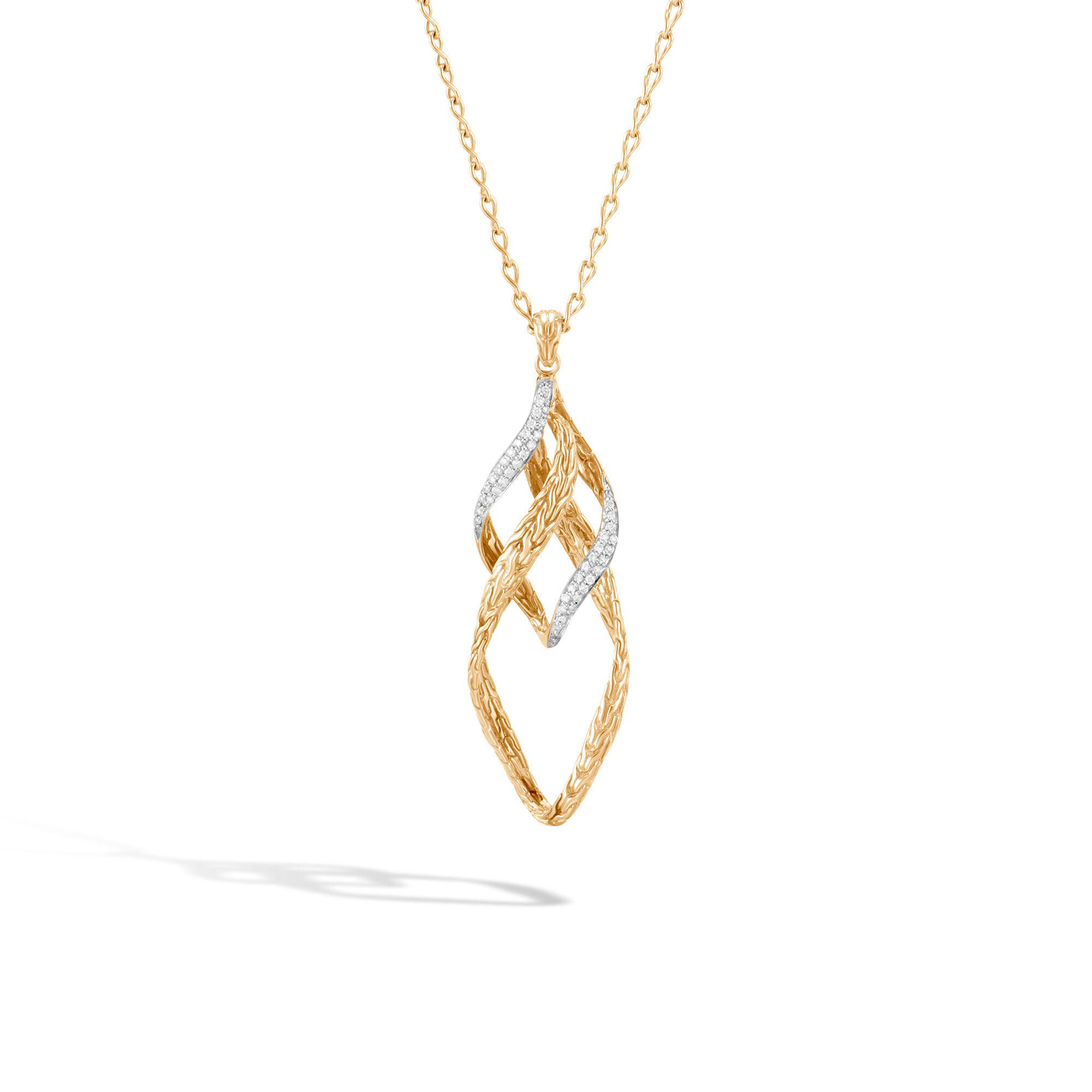 John Hardy Wave Pendant Necklace With Diamonds Lm0Wq