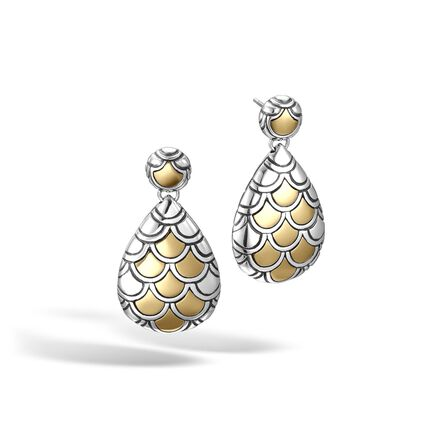 Legends Naga Drop Earring in Silver and 18K Gold