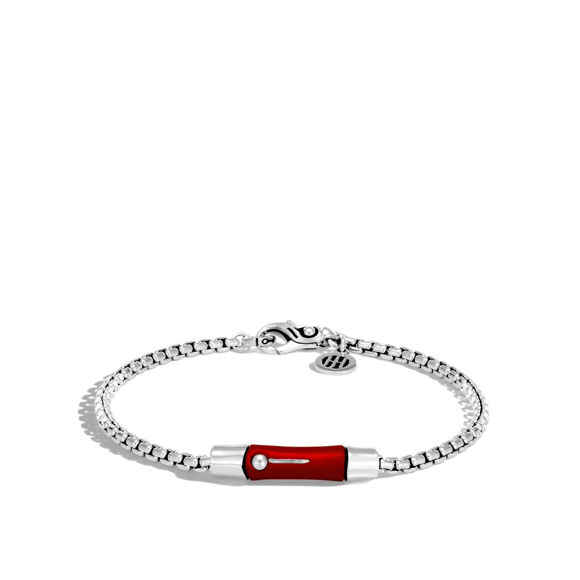 Bamboo 2.7MM Station Bracelet in Silver and Enamel