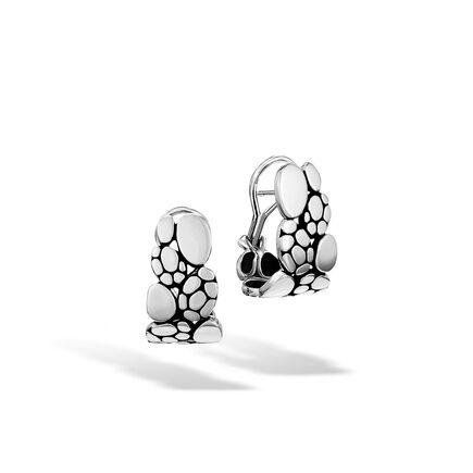 Kali Small J Hoop Earring in Silver