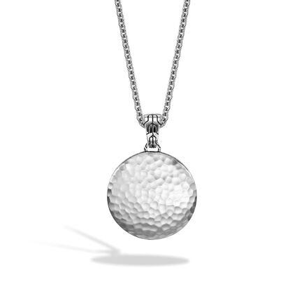 Dot Pendant Necklace in Hammered Silver