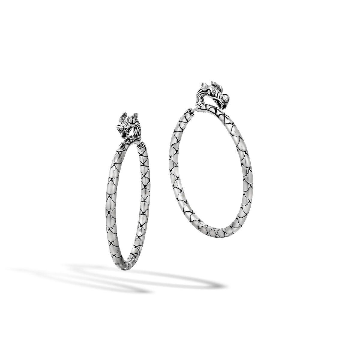 Legends Naga Medium Hoop Earring in Silver