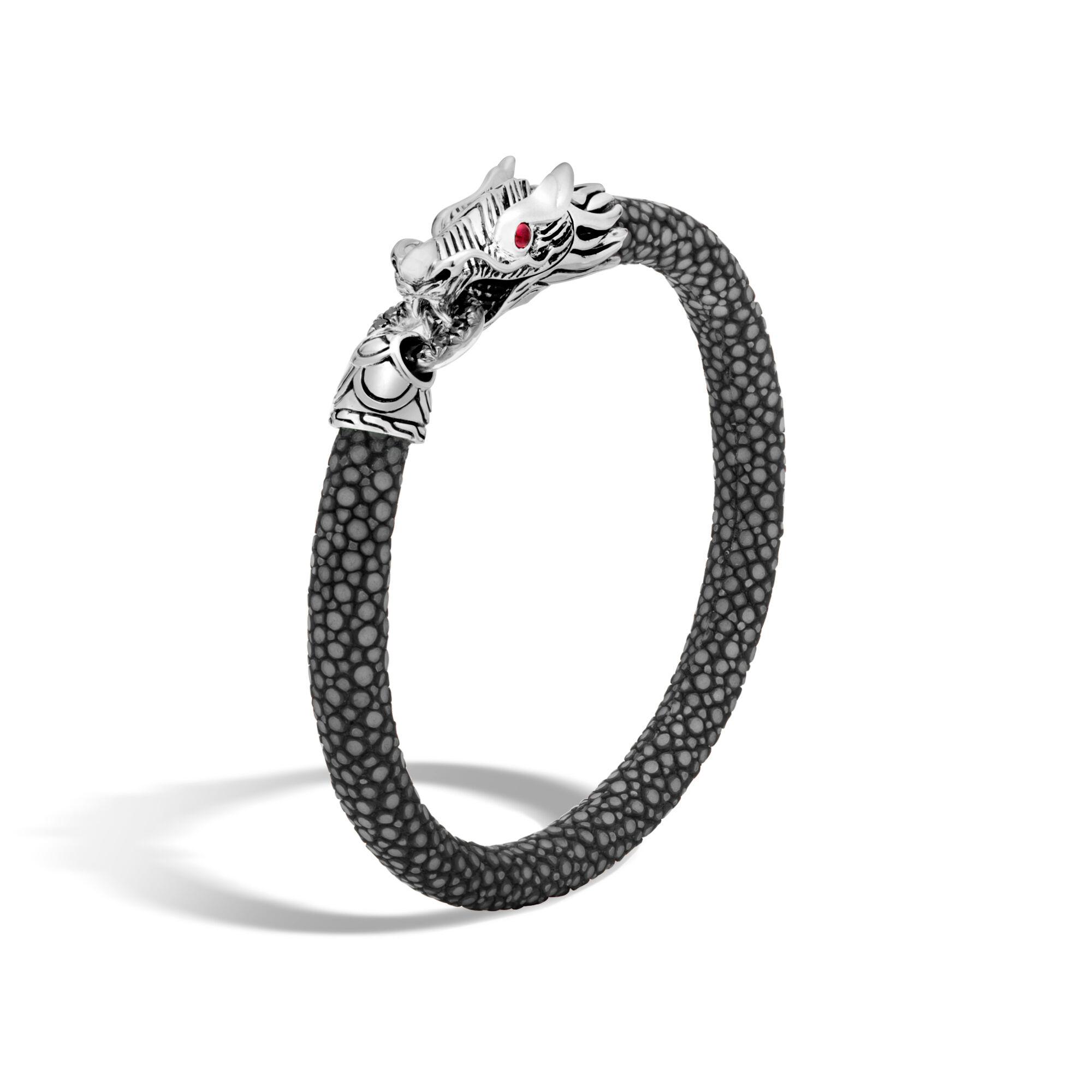 John Hardy Naga Station Bracelet With Black Sapphire Xs Black sapphire OLzgg