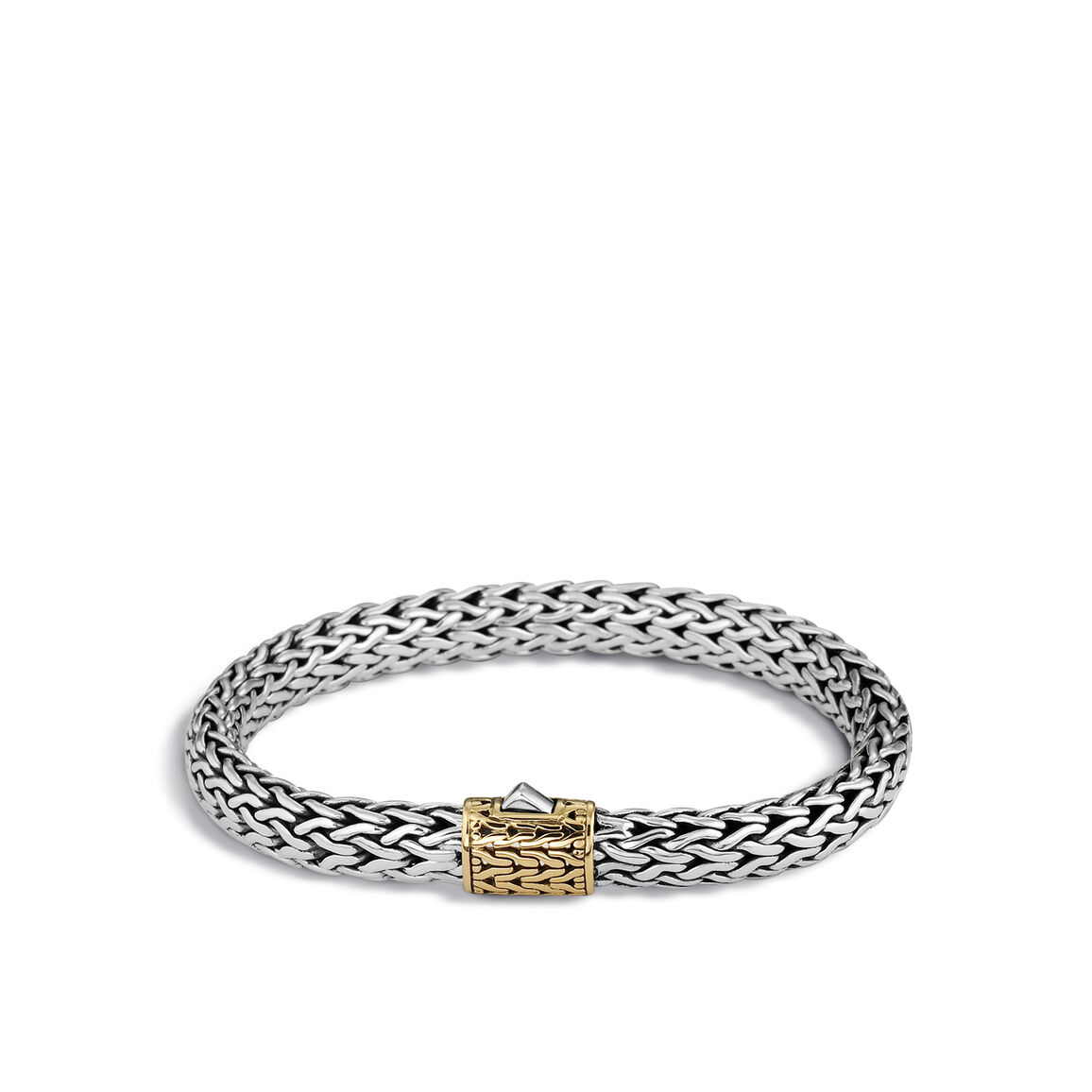 Classic Chain 7.5MM Bracelet in Silver and 18K Gold