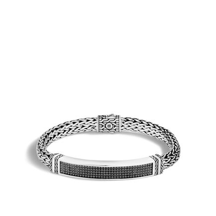 Chain Jawan 7.5MM Station Bracelet in Blackened Silver