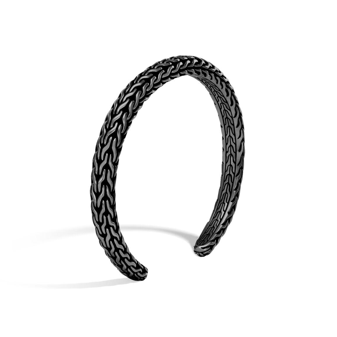 Classic Chain 6MM Cuff in Blackened Silver