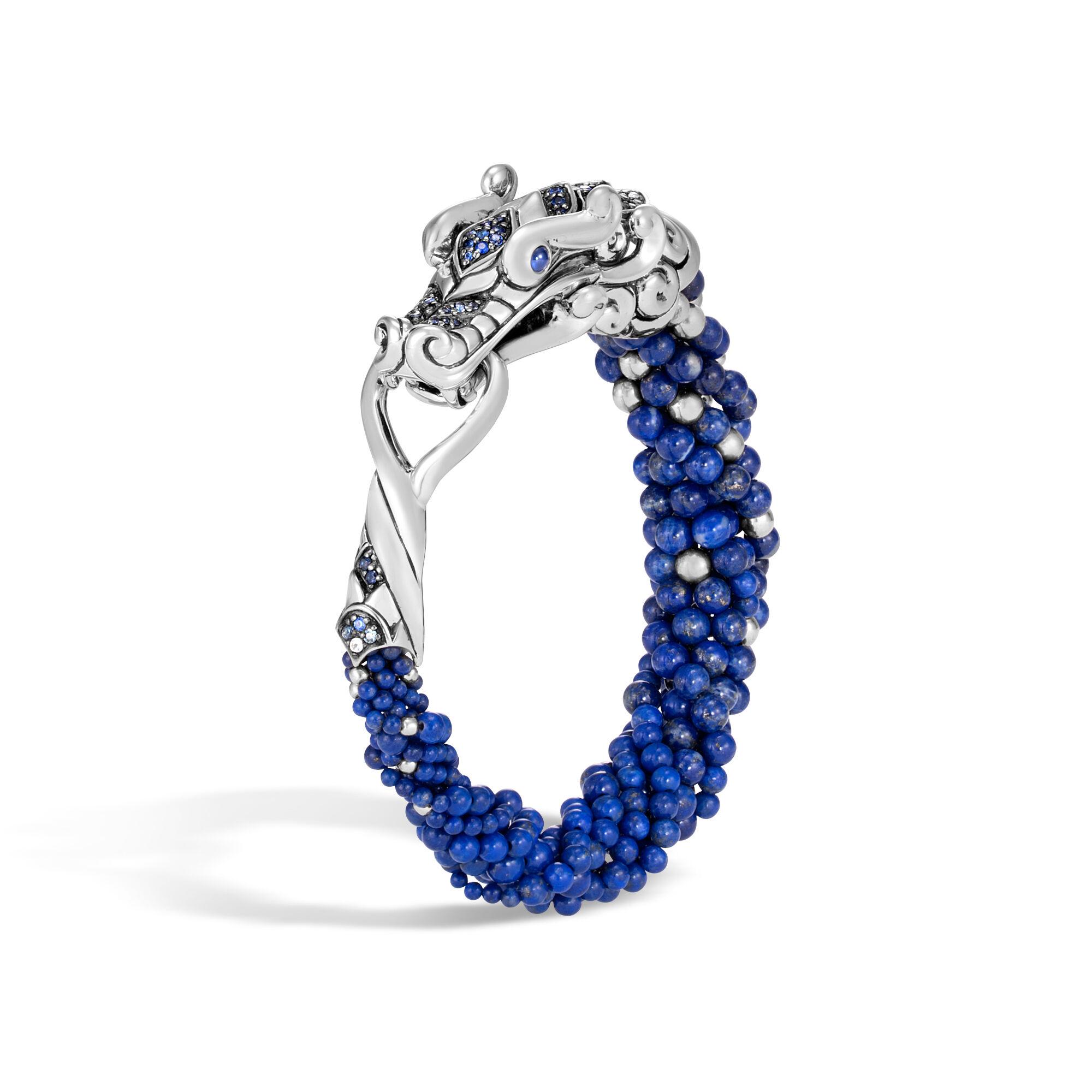 John Hardy Naga Multi Row Bracelet With Lapis Lazuli, Blue Sapphire Xl Lapis lazuli