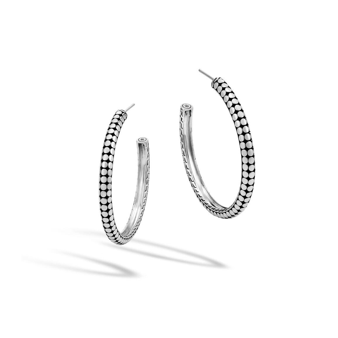 Dot Small Hoop Earring in Silver