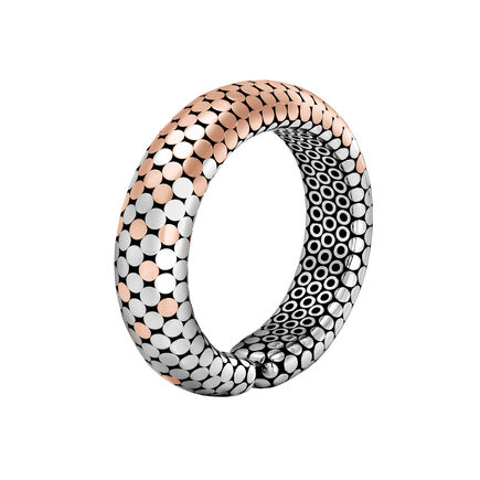 Dot 16MM Cuff in Silver and 18K Rose Gold