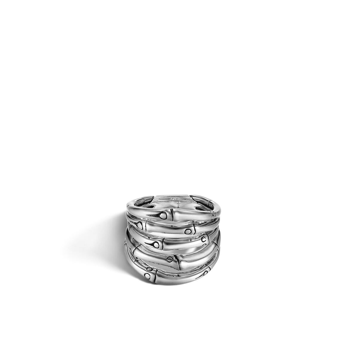 Bamboo Ring in Silver