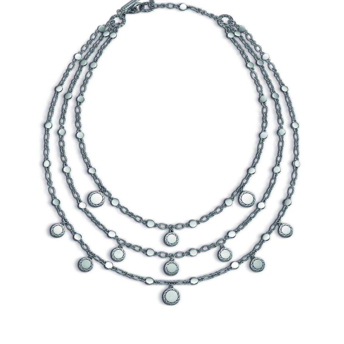 Triple Row Bib Necklace