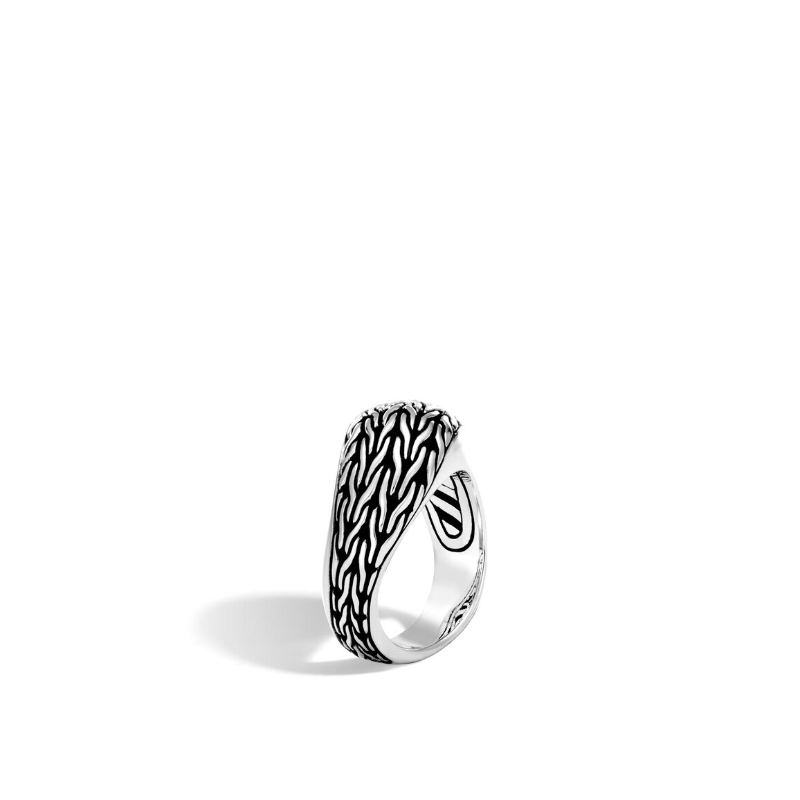 Classic Chain Wave Ring in Silver