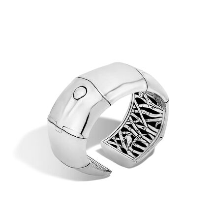 Bamboo 30MM Kick Cuff in Silver