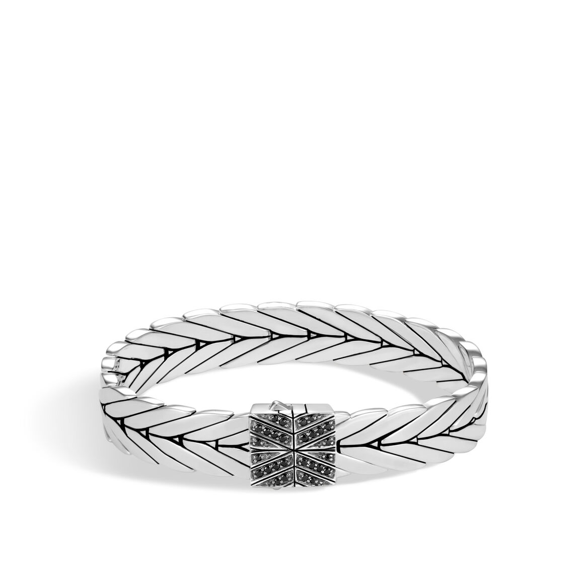Modern Chain 11MM Bracelet in Silver with Gemstone