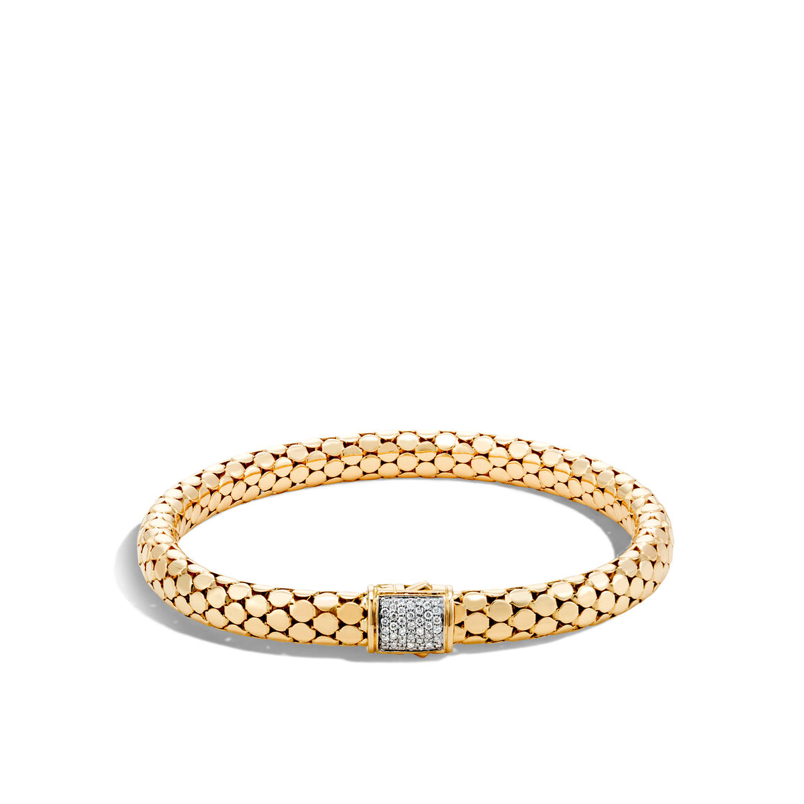 Dot 6.5MM Bracelet in 18K Gold with Diamonds