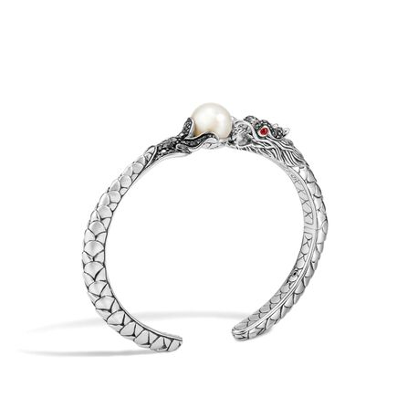 Legends Naga Kick Cuff in Silver with 11MM Pearl, Gemstone