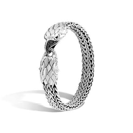 Legends Eagle 11MM Station Bracelet in Silver with Gemstone