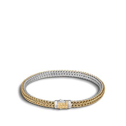 Classic Chain 5MM Reversible Bracelet, Silver, 18K Gold