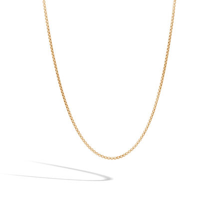 Classic Chain 1.9MM Box Chain Necklace in 18K Gold