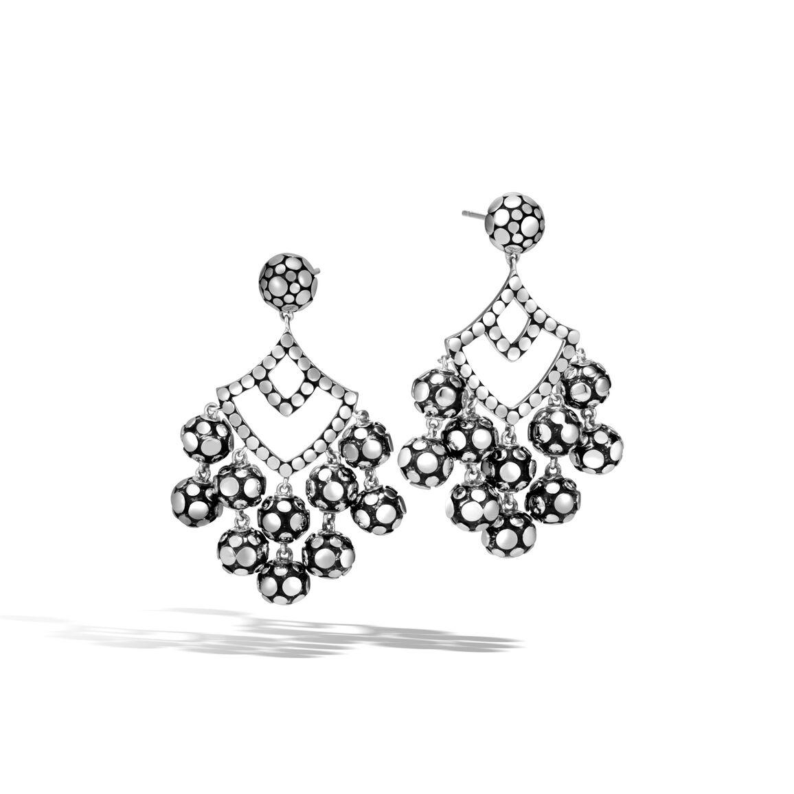 Dot Chandelier Earring in Silver