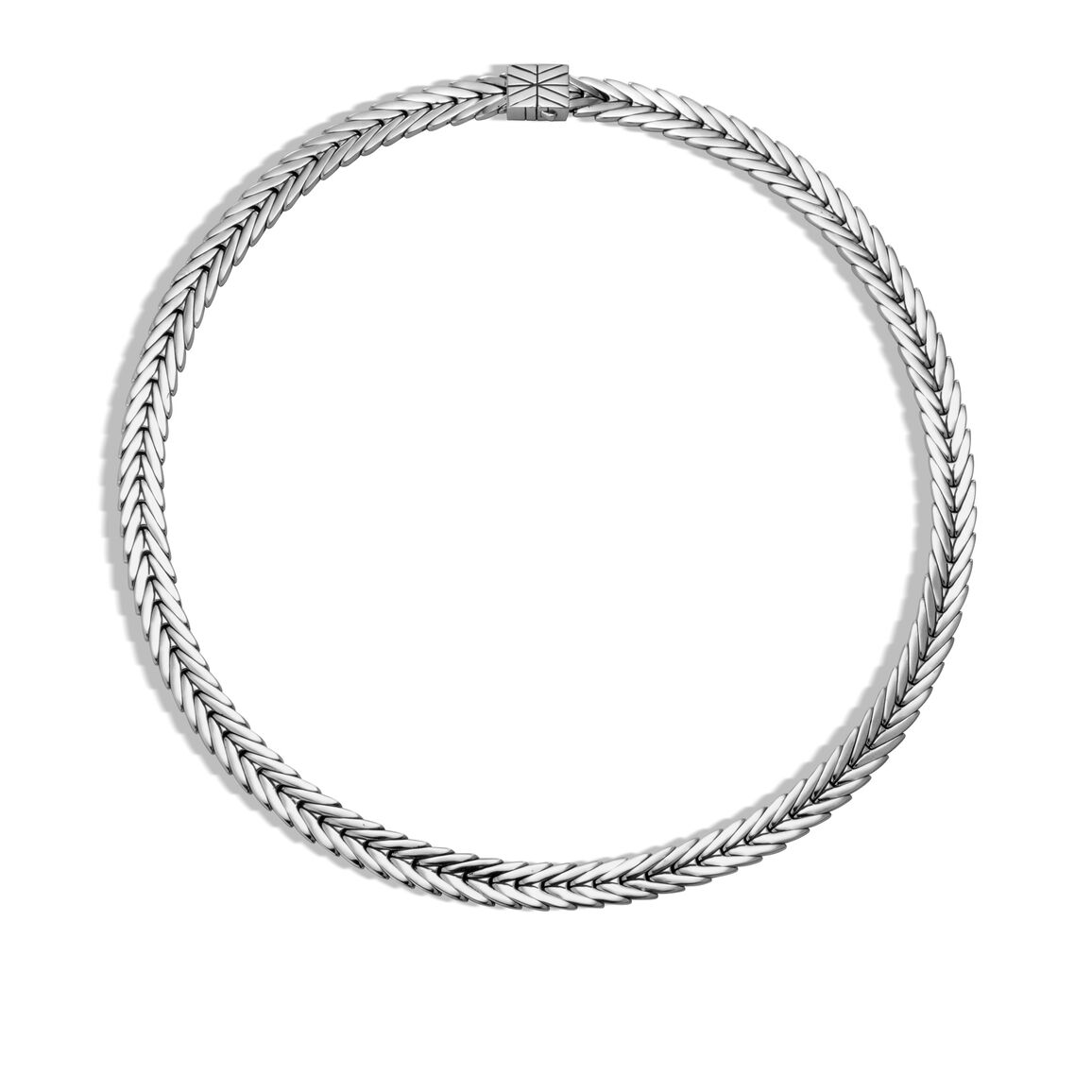 Modern Chain 8MM Necklace in Silver