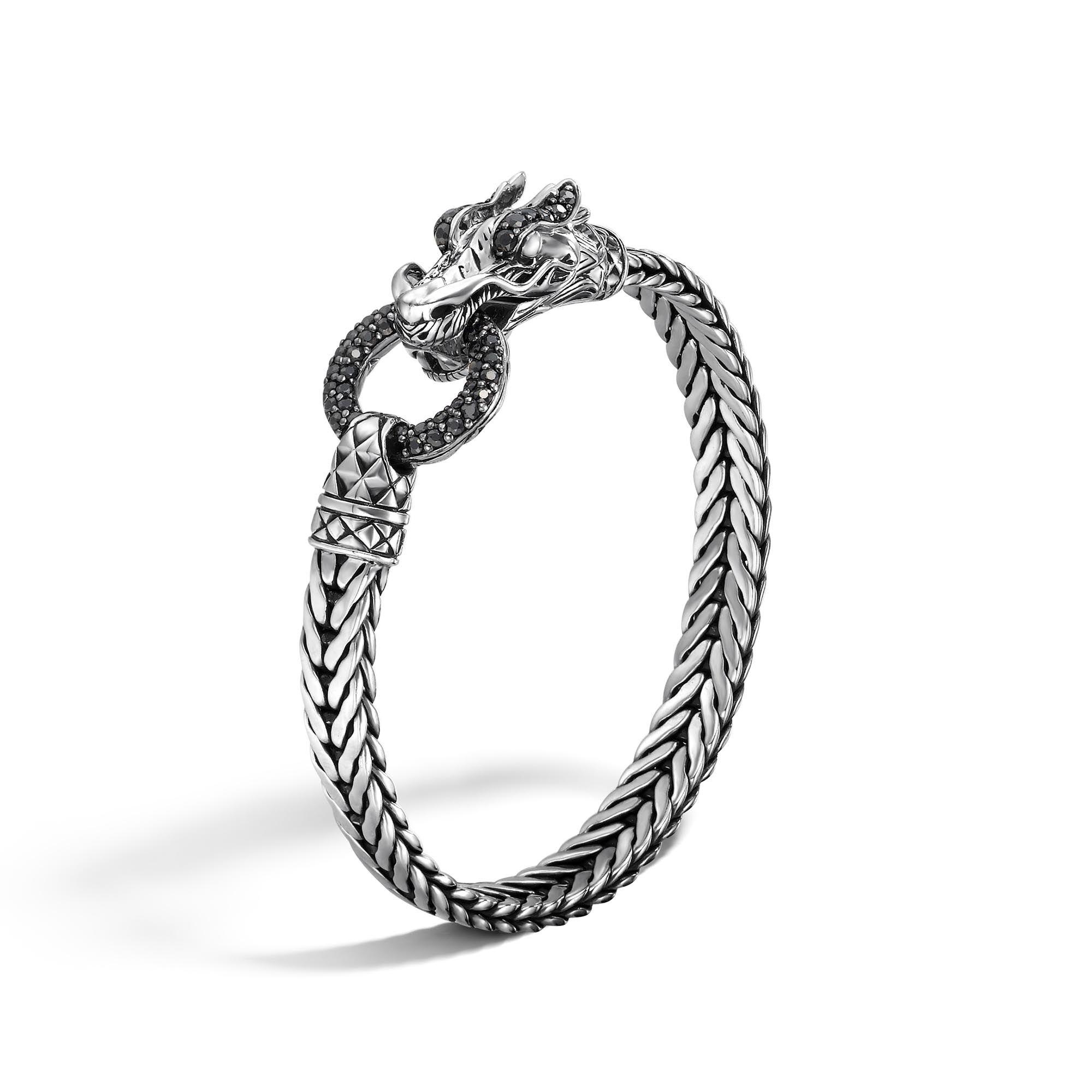 John Hardy Naga Station Bracelet With Black Sapphire Xs Black sapphire pciRd