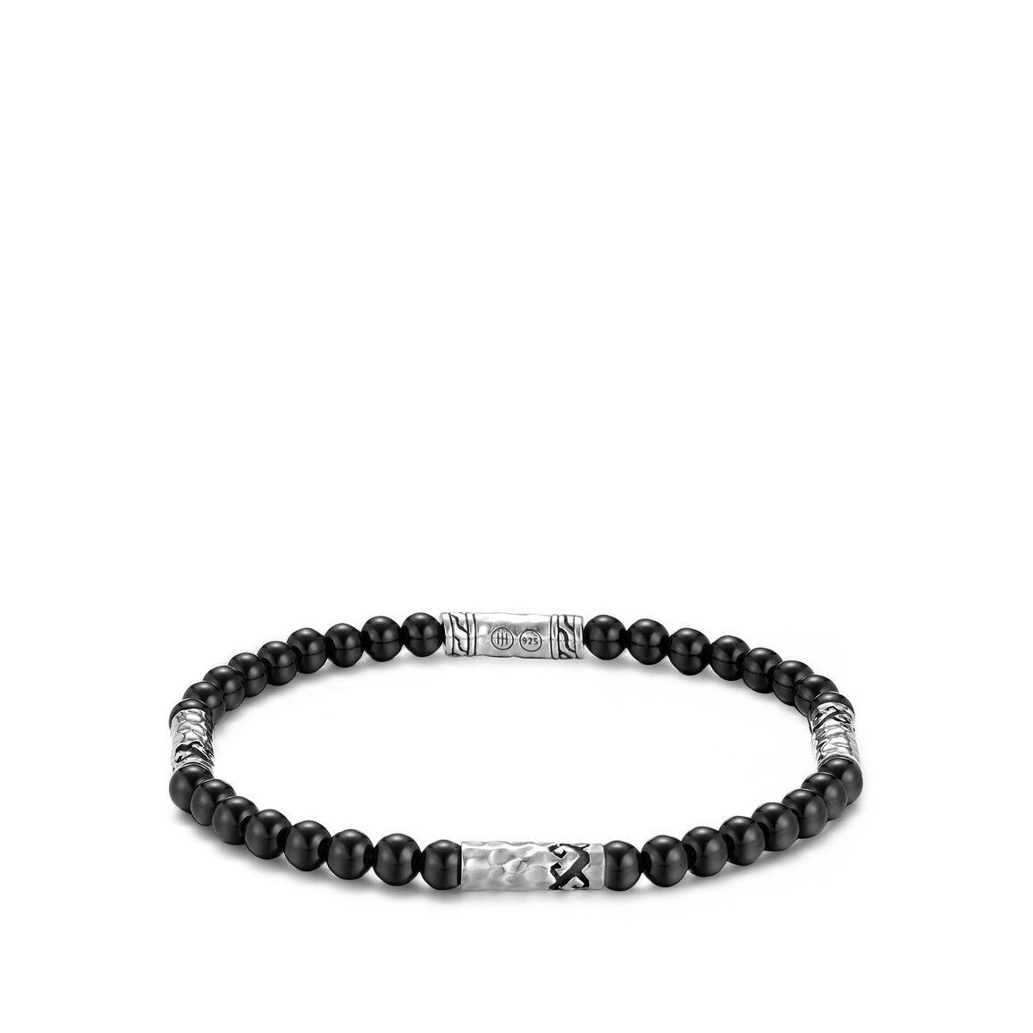 Dayak Bead Bracelet in Silver