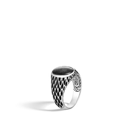 Legends Naga Oval Signet Ring in Silver with Gemstone