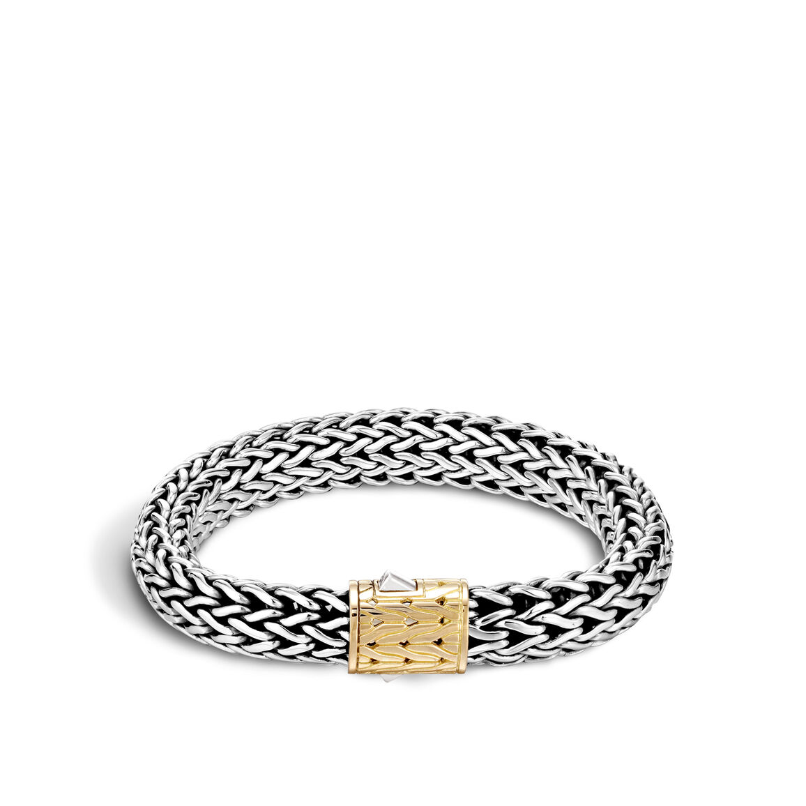 Classic Chain 10.5MM   Bracelet in Silver and 18K Gold