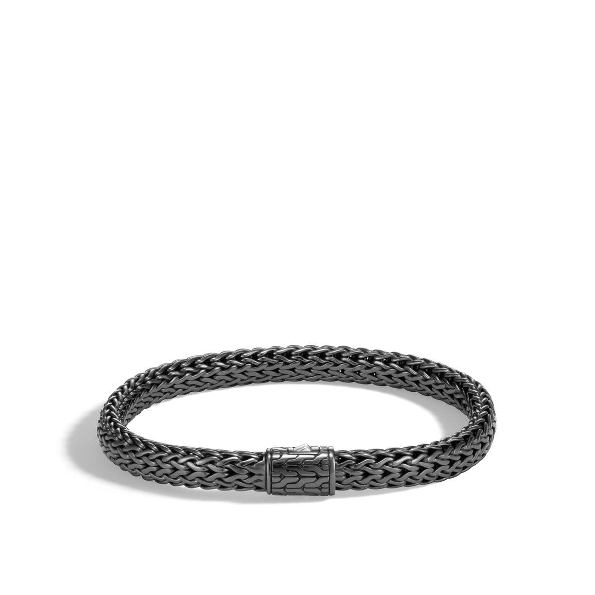 Classic Chain 6.5MM Bracelet in Blackened Silver