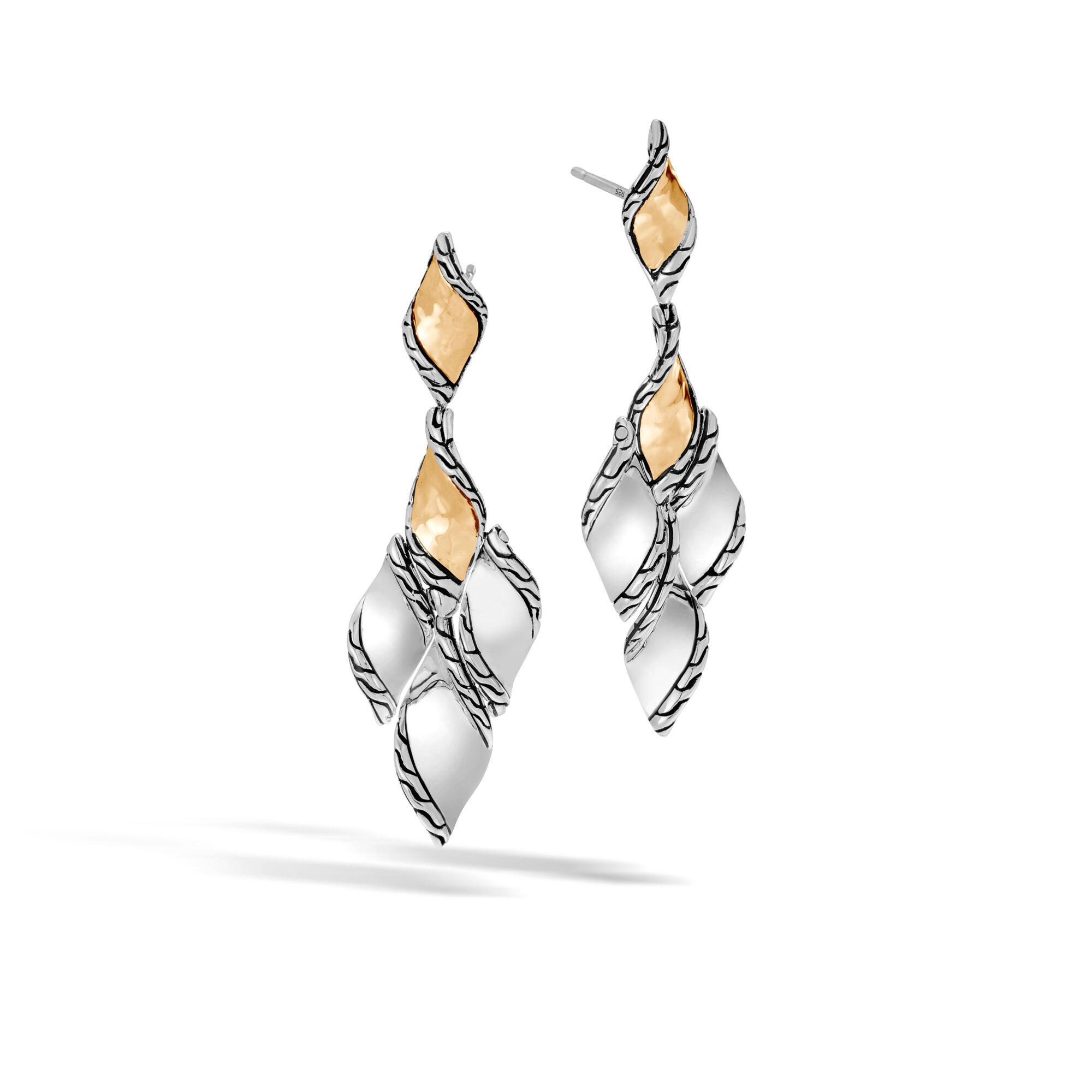 John Hardy Classic Chain Hammered 18K Teardrop Earrings z0QLQQXW