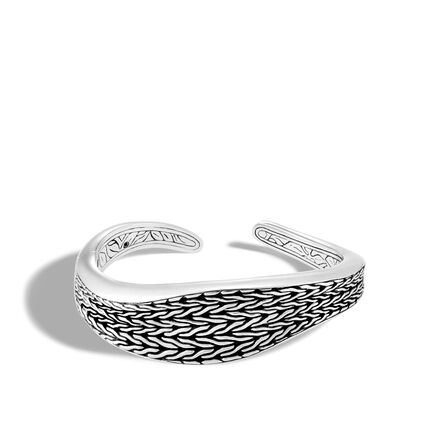 Classic Chain Wave 21MM Kick Cuff in Silver