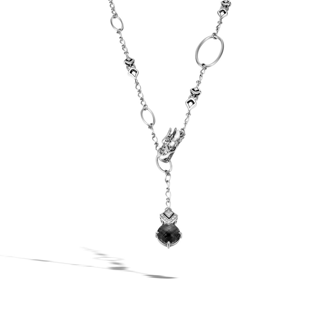 Legends Naga 4MM Drop Necklace with 14MM Gemstone