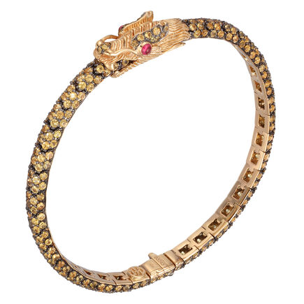 John Hardy Cinta Legends Naga Bracelet, 18K Gold, Gemstone