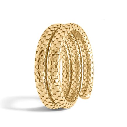Dot Double Coil Bracelet in 18K Gold