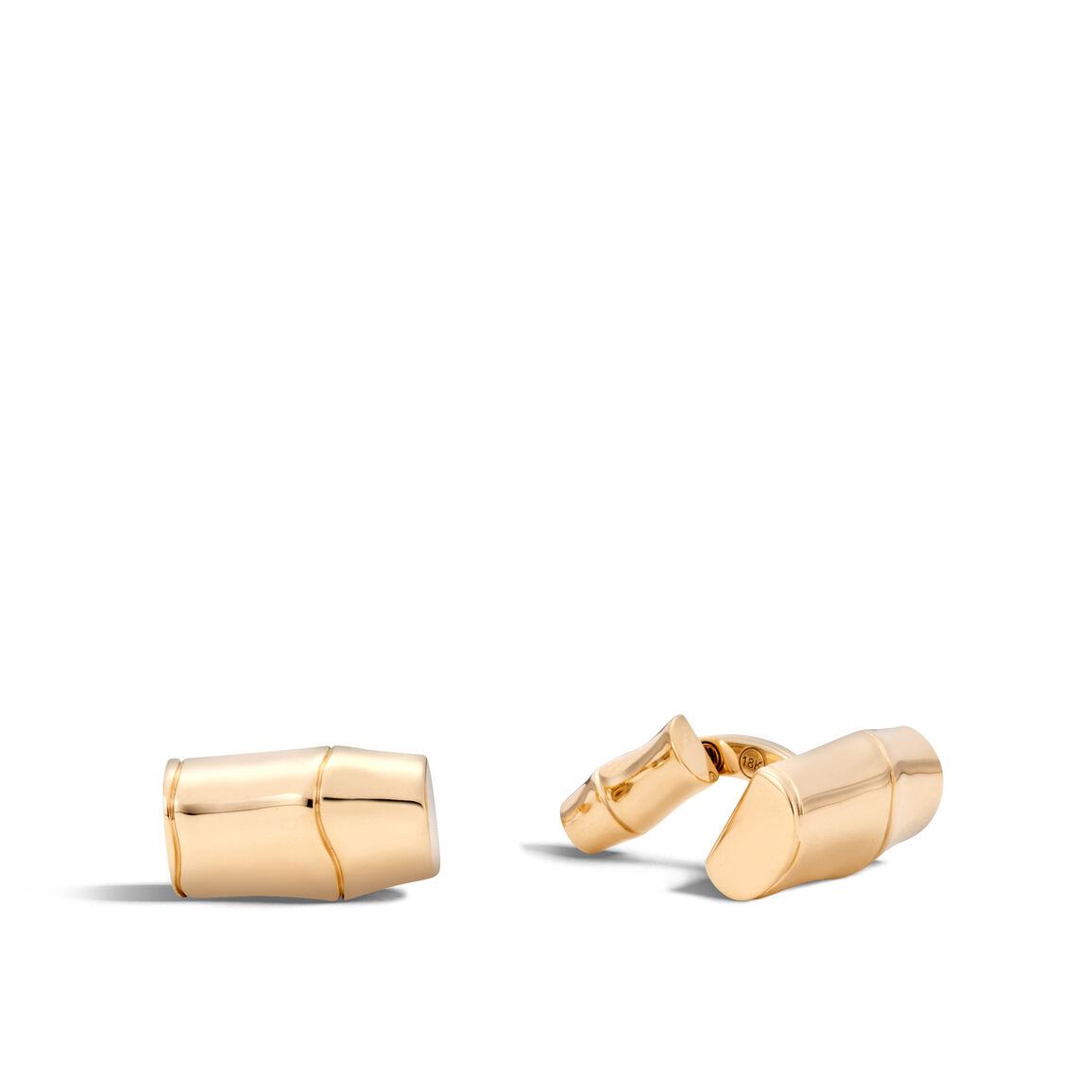 Bamboo Cufflinks in 18K Gold