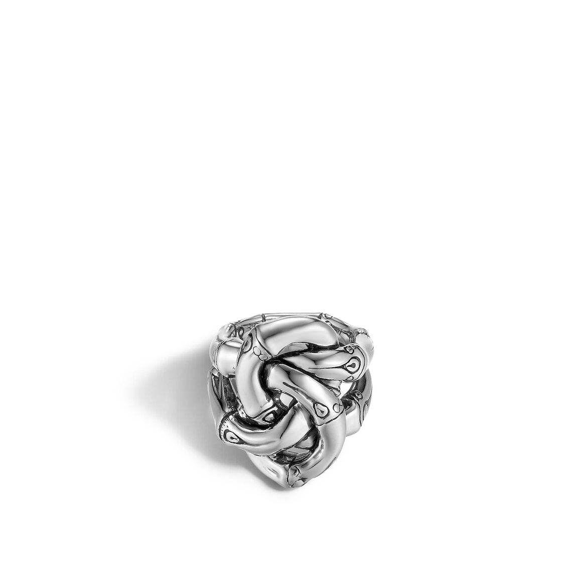 Bamboo Knot Ring in Silver