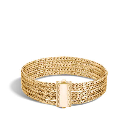 Classic Chain Five Row Bracelet in 18K Gold